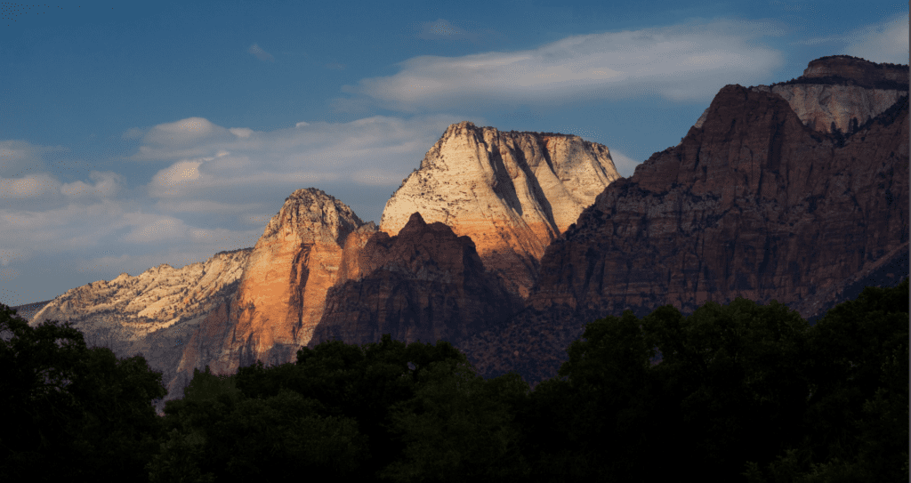 View of Zion at Braffits